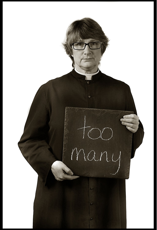 "Picture of Mary Ledgewood stating ""too many"" in response to how many gun victims she knows."